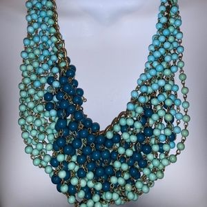 Blue multi beaded Necklace